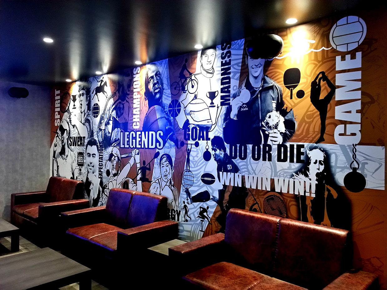 Sports Bar Wall Murals